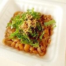 青シソごま納豆
