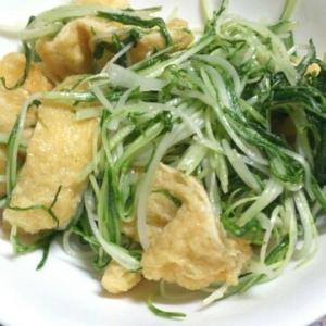 水菜と油揚げの中華炒め