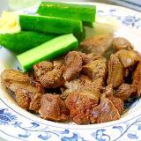 鶏レバーと砂肝の塩炒め