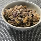 納豆と五穀米の炊き込みご飯