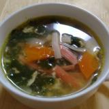 ポカポカあたたまる♪ニラと卵の中華スープ