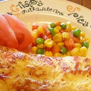 トマトとチーズのオムレツ