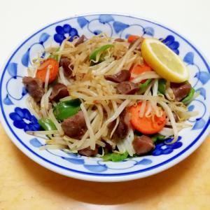 砂肝ともやしと野菜のシンプル炒め