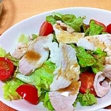 お肉がしっとり☆豚しゃぶサラダ