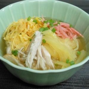 鶏飯 スープで食べる