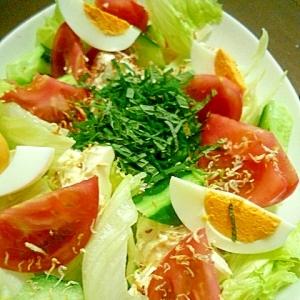大葉じゃこトッピング★カラフル豆腐サラダ