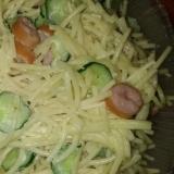 ウィンナーのスパゲティーサラダ菜