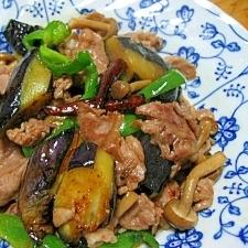 ピリ辛で、ご飯がすすむ。豚肉とナスの唐辛子炒め