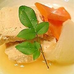 冷凍保存しておいた豆腐を使って冷凍豆腐のふくめ煮♪