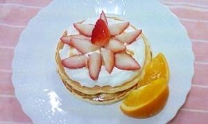 甘くて可愛い!アメリカンパンケーキ
