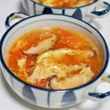 しいたけとトマトの卵スープ