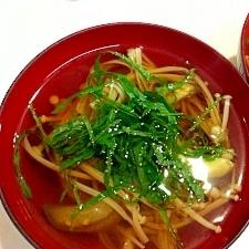 なすとえのきの和風スープ