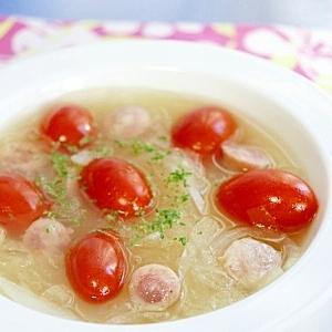 トマトとソーセージのスープ