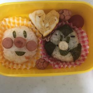 鮭アンパンマンとひじきおむすびマンのお弁当☆