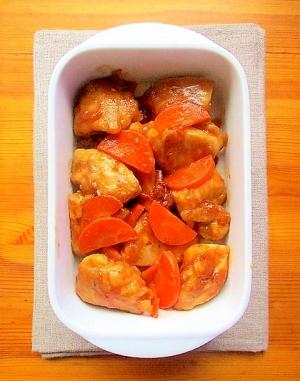 フライパンで簡単!鷄むね肉とにんじんの梅ポン炒め