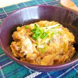 さば缶で簡単!鯖と豆腐のたまご丼