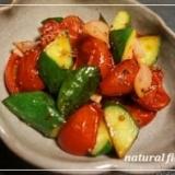 キュウリとミニトマトの温サラダ