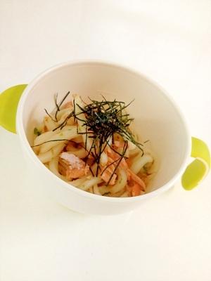 鮭と玉ねぎの焼うどん☆離乳食