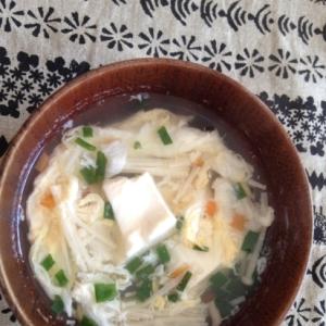 豆腐と野菜の卵スープ