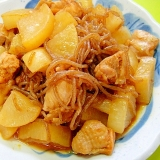 大根と鶏肉糸こんにゃくのピリ辛煮