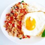 ガパオライス 本格 タイ風挽肉とバジルご飯