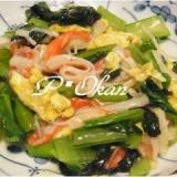 小松菜と卵のあんかけ