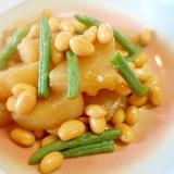 水煮大豆と大根の甘辛煮