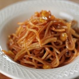 弁当に!中華麺でナポリタン