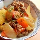お弁当にも❤切り落とし牛肉&根菜の煮物♪