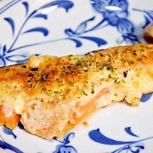 ぬってトースターで焼くだけ♪鮭のパン粉焼き