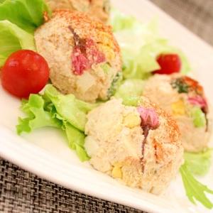 鶏ハムと濃厚豆腐マヨでしっとり♪おからのポテサラ風