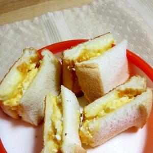 幼児食★ランチにチーズエッグサンド♪