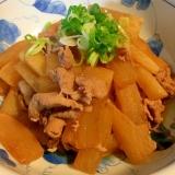 豚薄切り肉と大根の炒め煮