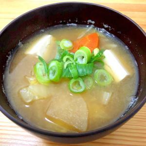 冬野菜たっぷり味噌汁