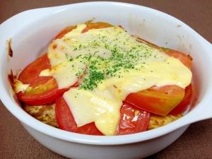 お手軽もう一品☆なすとトマトのチーズ焼き