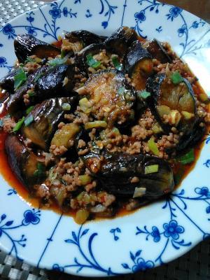 茄子と豚挽き肉炒め