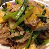 超簡単!豚肉と厚揚げと小松菜の中華炒め