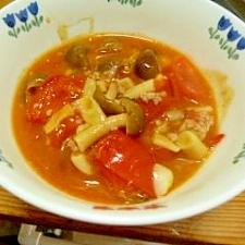 トマトとしめじの洋風炒め煮