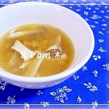 *焼肉のたれで旨みアップ*きのこスープ*