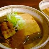 じっくり煮込んだみそ味の肉豆腐☆