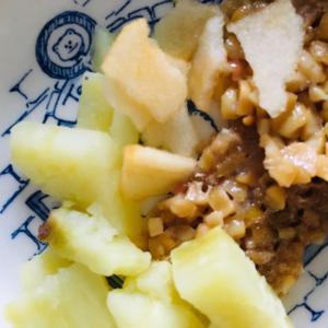 ⁑離乳食カミカミ期⁑納豆さつまいもりんごサラダ