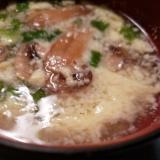 卵とマッシュルームの中華スープ♪