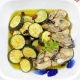 ズッキーニと牡蠣のアヒージョ