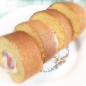 卵焼き器でロールケーキ