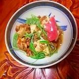 豆腐ひき肉細切りピーマンの煮物