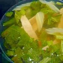 セロリとハムのスープ