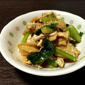 簡単!鶏と小松菜のからしめんつゆ和え
