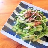 居酒屋メニュー♪サンチュの韓国風サラダ