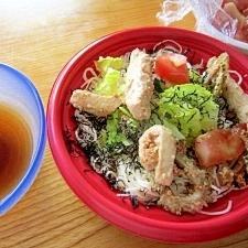 (=^・^=)マヒ∝マヒ∞素麺レタスサラダ