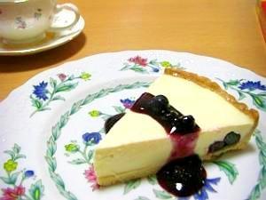 ブルーベリーのレアチーズタルト